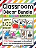 Back to School - Classroom Decor Bundle - Preschool, PreK, Kindergarten