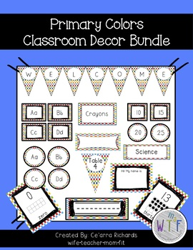 Classroom Decor Bundle - Primary Colors