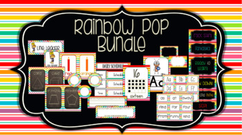 Classroom Decor Bundle: Rainbow Pop