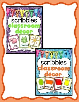 Alphabet Posters and More Bundle: Scribbles