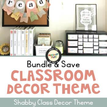 Shabby Class Classroom Decor Bundle