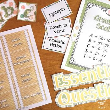 Shabby Chic Classroom Decor Bundle