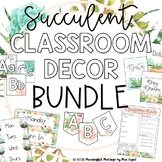 Classroom Decor Bundle; Succulent Floral Theme