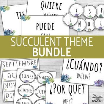 Classroom Decor Bundle Succulent Theme