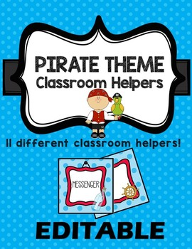 Classroom Decor Bundle Theme - Pirates - EDITABLE