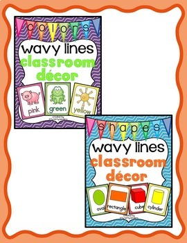 Alphabet Posters and More Bundle: Wavy Lines