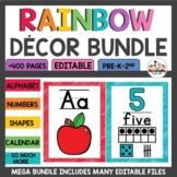 Rainbow Classroom Themes Decor Bundle