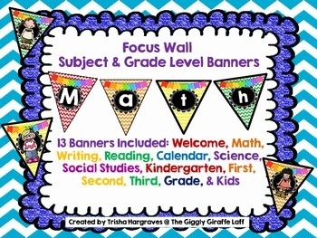 Classroom Decor Buntings for Grade and Subjects