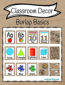 Classroom Decor: Burlap Basics