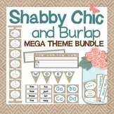 Shabby Chic and Burlap Classroom Decor - BUNDLE {Editable}
