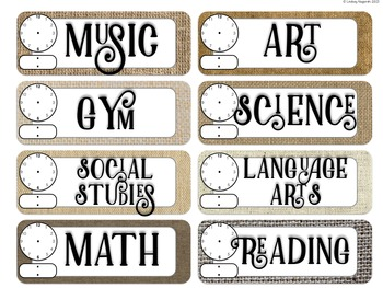 Classroom Decor Burlap and Wood