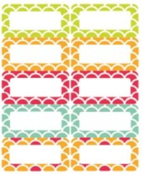 Classroom Decor By the SEA - Ocean Avery Sticky Labels 2x4