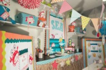 Classroom Decor By the SEA - Ocean Pennant Banners