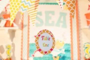 Classroom Decor By the SEA - Ocean Table/Center Signs Editable