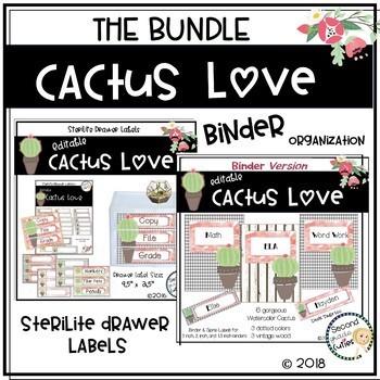 Classroom Decor Cactus Love BUNDLED