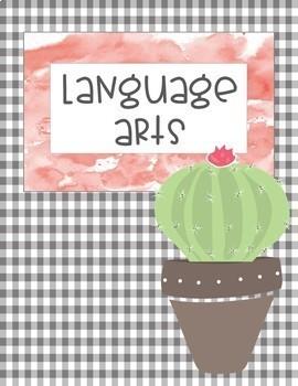 Classroom Decor Cactus Love- Editable Binder & Desk Labels