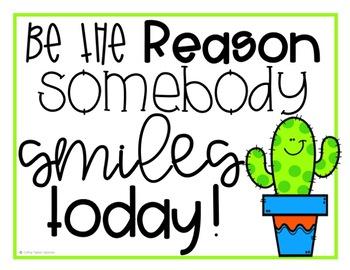Classroom Decor Cactus Posters - Growth Mindset - Kindness