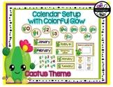 Classroom Decor: Cactus Theme Calendar Setup