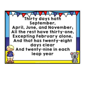 AUSTRALIA Classroom Decor Calendar