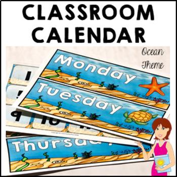 OCEAN Classroom Decor Calendar