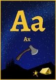 Classroom Decor- Camping Alphabet Posters