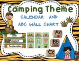 Classroom Decor Camping Theme Calendar Set and ABC Wall Chart