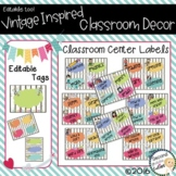 Classroom Vintage Decor Center Labels & More
