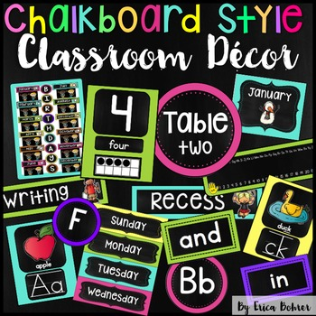 Classroom Decor: Chalkboard Brights Style
