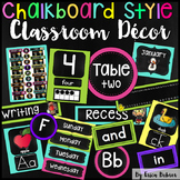 Classroom Decor: Chalkboard Brights Style