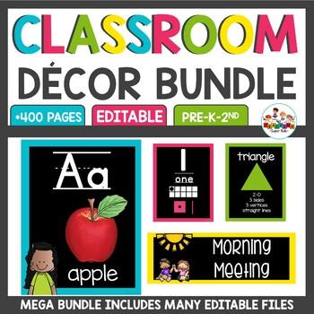 Chalkboard Brights Classroom Decor