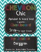 Classroom Decor: Chalkboard Chevron Chic Bundle