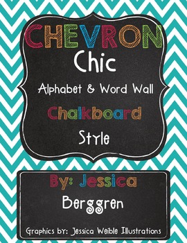 Classroom Decor: Chalkboard Chevron Chic Bundle