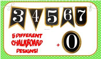 Classroom Decor: Chalkboard Number Line for Upper-Level Grades