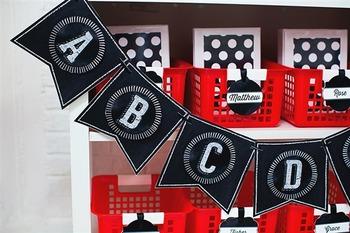 Classroom Decor Chalkboard & Polka Dot - Full Collection Bundle