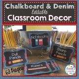 Classroom Decor: Chalkboard and Denim