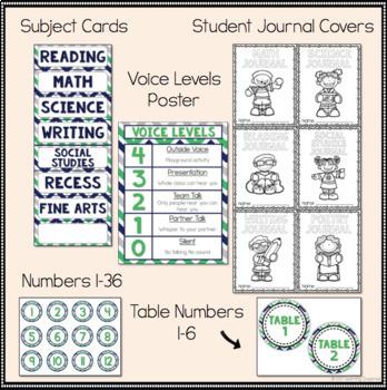 Classroom Decor Starter Pack Chevron Theme