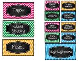 Teacher Toolbox Supply Labels-Chevron {Editable}