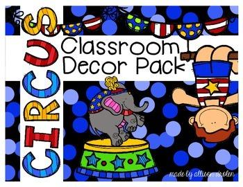 Classroom Decor Circus Edition