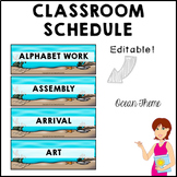 OCEAN Classroom Decor Class Schedule