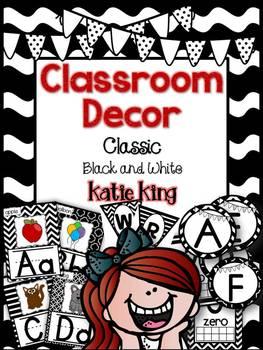 Classroom Decor: Classic Black and White