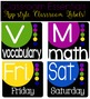 Classroom Decor - Classroom Essentials - Labels, Calendar, Focus Wall Elements