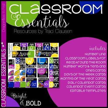 Classroom Decor - Classroom Essentials - Labels, Calendar,