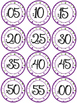 Classroom Decor Clock Labels - Purple and Green Polka Dots!
