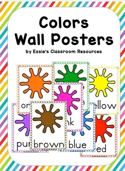 Classroom Decor  Colors Wall Posters