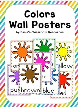 Classroom Decor  Colors Wall Posters