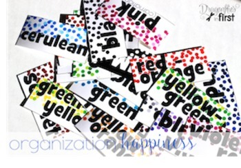 Classroom Decor - Crayon Cubbie Labels - Toolkit Labels