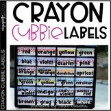 Crayon Labels - Crayon Toolbox Labels - Crayon Cubbie Labels