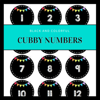 Numbers for Cubbies or Lockers