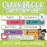 Daily Calendar and Schedule Cards Classroom Decor