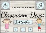 Classroom Decor: Dalmatian Print